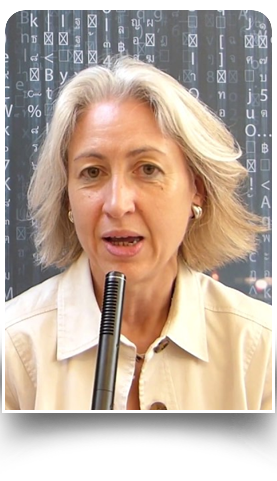 Florence Puybareau intervenant au Cyberwomenday